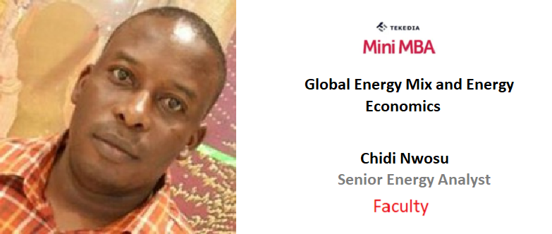 An Energy Analyst from NNPC To Lead A Session on Tekedia Mini-MBA
