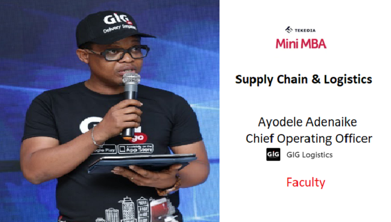 GIG Logistics COO To Teach Logistics & Supply in Tekedia Mini-MBA