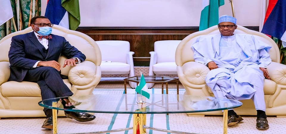 """President Buhari Remains """"Consistent"""" in Support to AfDB President Akinwumi Adesina"""