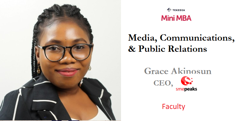 Media, Communications, and Public Relations At Tekedia Mini-MBA