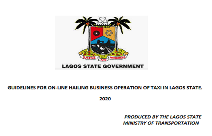 Download: Lagos State Guidelines for Online Hailing Business Operation of Taxi, 2020