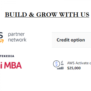 Tekedia Now Offers Amazon AWS Credit To Innovators In Mini-MBA