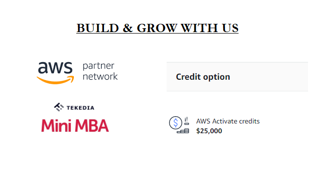 Innovators, Tekedia Can Provide You With Amazon AWS Credit As You Build and Grow