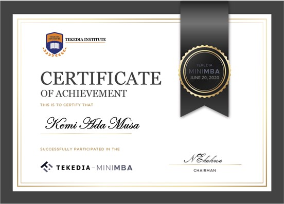 New Certificate Design