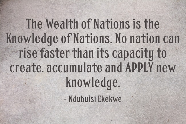 The Wealth of Nations is the Knowledge of Nations