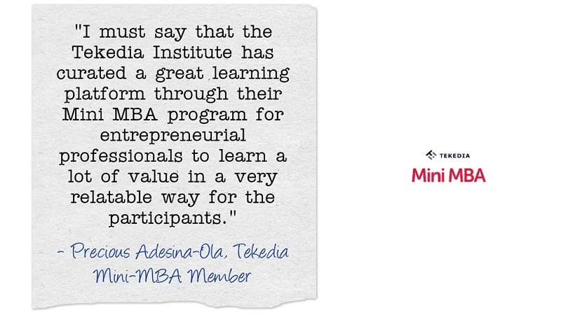 "A Testimonial on Tekedia Mini-MBA – ""a great learning platform"""