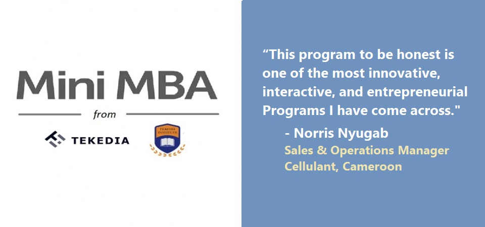 "Tekedia Mini-MBA – ""One of the most innovative, interactive, and entrepreneurial programs"""