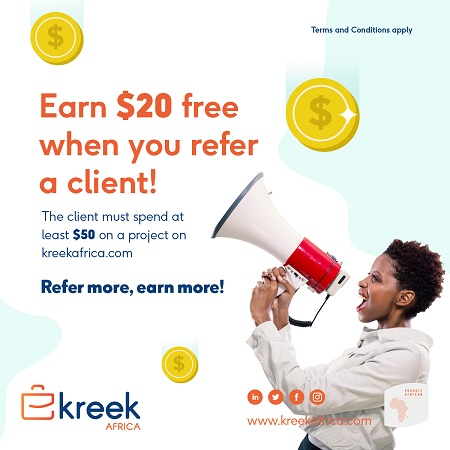 Partner With KreekAfrica And Refer Friends and Associates