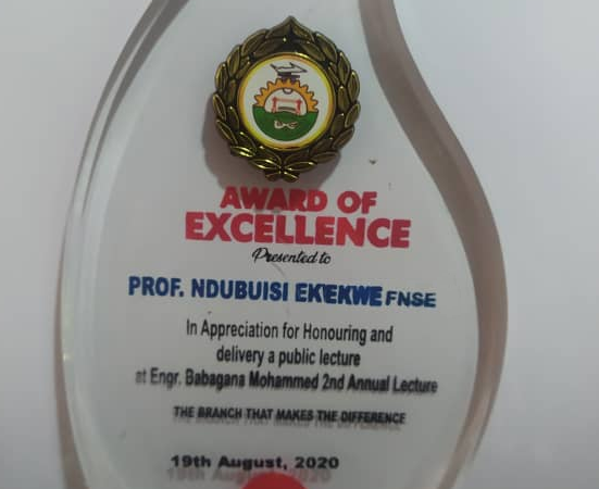 Thank You Nigerian Society of Engineers