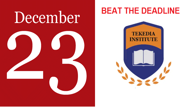Beat the Deadline, Register for Tekedia Mini-MBA by Dec 23