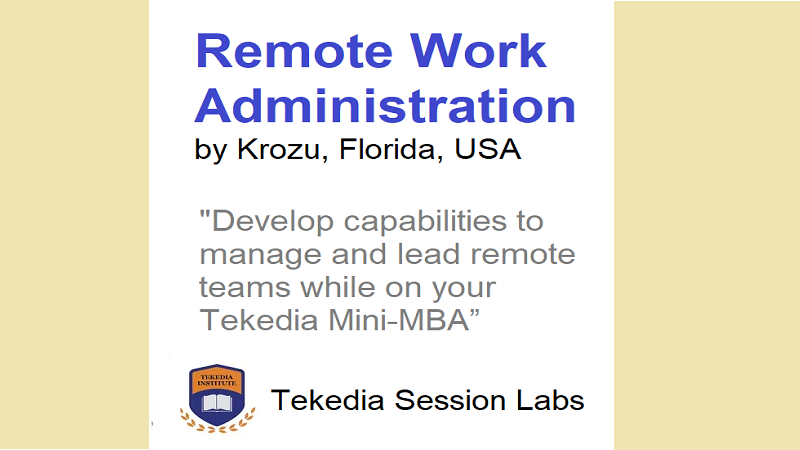Attend free Remote Work Administration training with Tekedia Mini-MBA