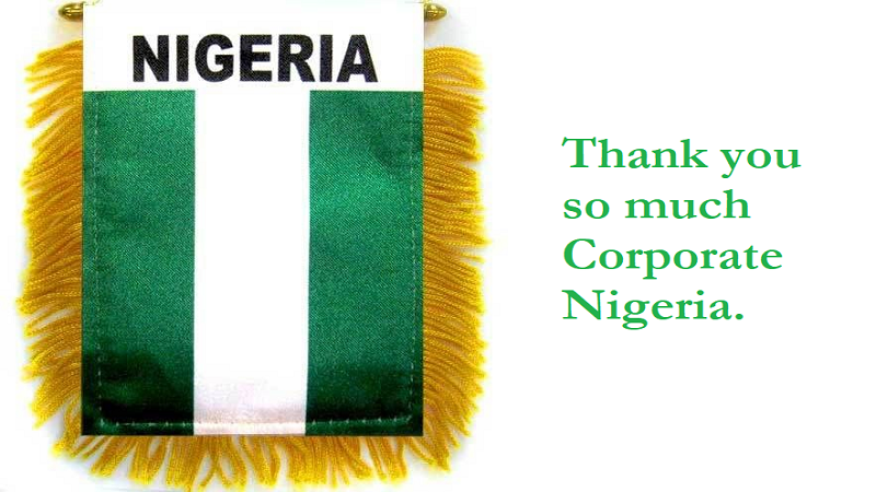 Thank You Corporate Nigeria