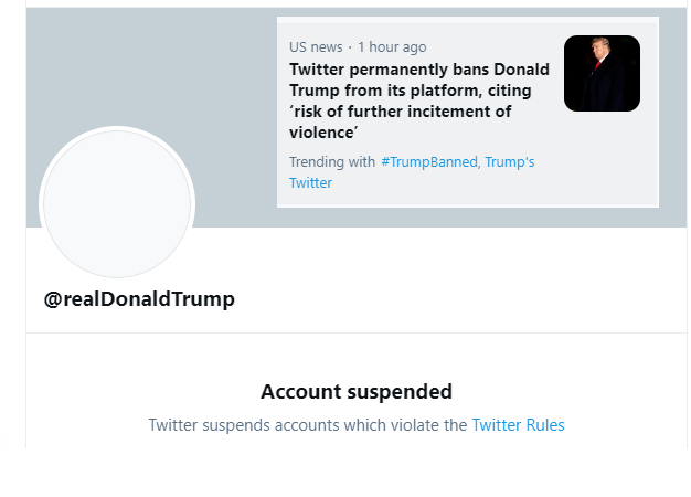 The Twitter's BIG Mistake on Trump's Account