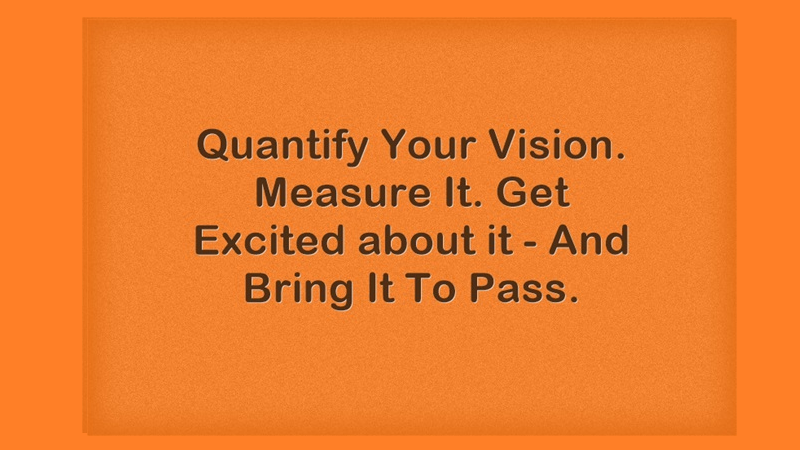 Quantify, Measure and Get Excited About Your VISION