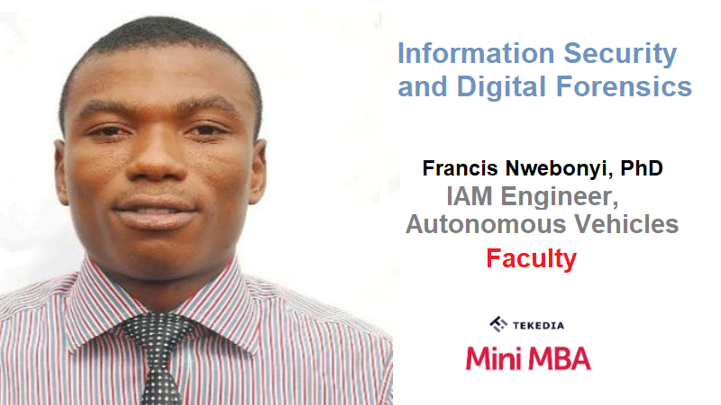 Information Security and Digital Forensics At Tekedia Mini-MBA