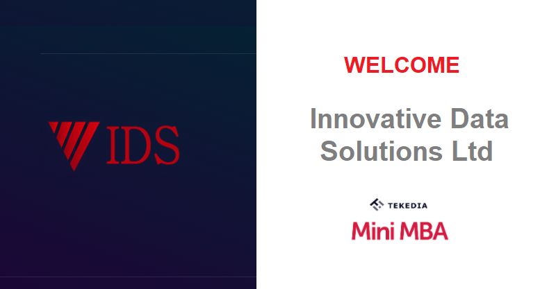 Welcome Innovative Data Solutions Ltd To Tekedia Mini-MBA