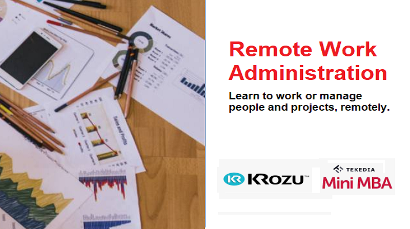 Training on Remote Work Administration At Tekedia Institute