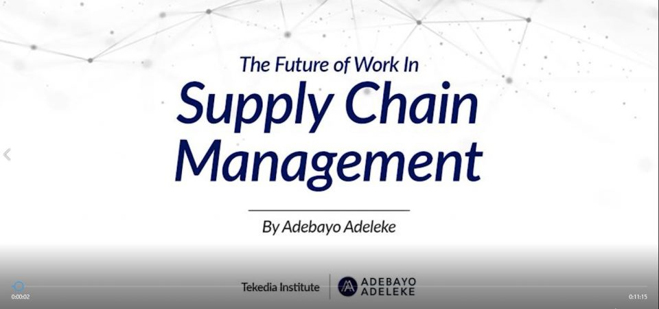 Future of Work in Supply Chain Management