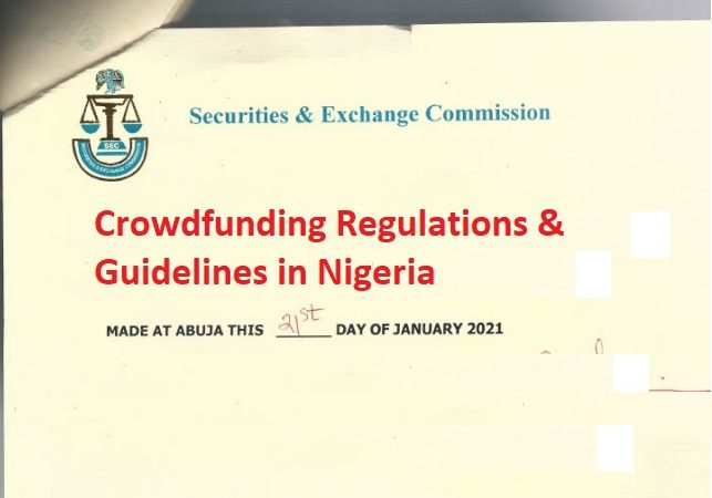 Download Crowdfunding Guidelines from Nigeria's Securities & Exchange Commission (SEC)