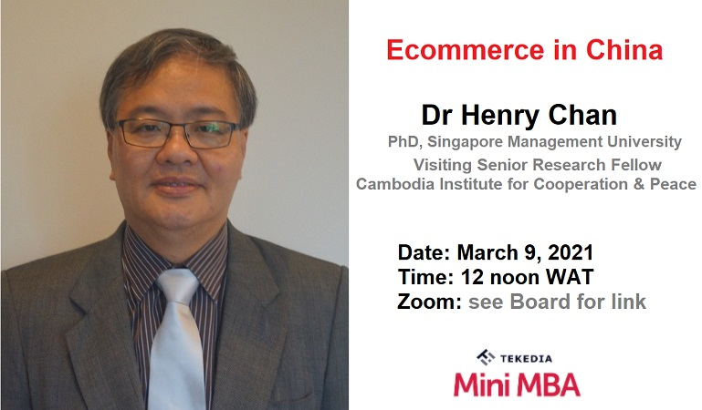 Tekedia Institute Welcomes A Chinese Economic Expert and Thought-leader, Dr Henry Chan