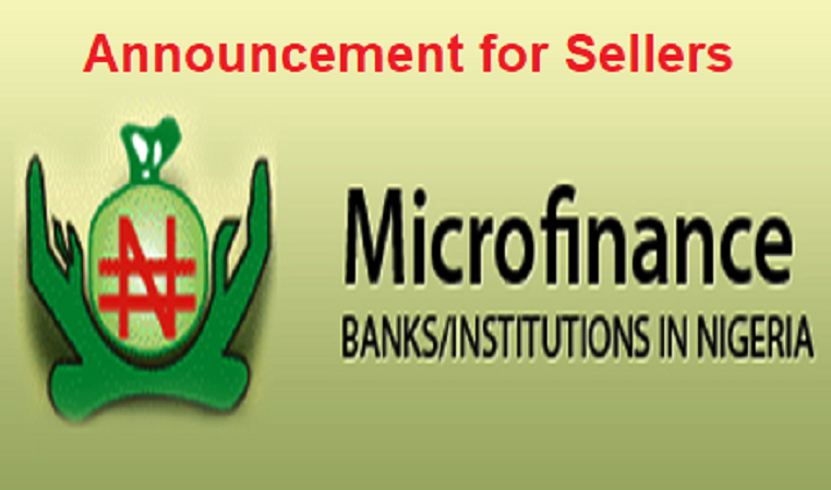 Looking For A Microfinance Bank To Buy