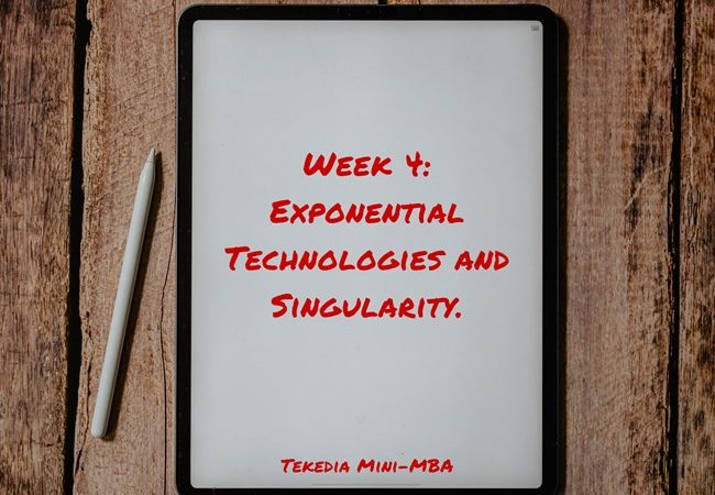 Week 4 At Tekedia Mini-MBA – Courseware and Zoom Links Posted