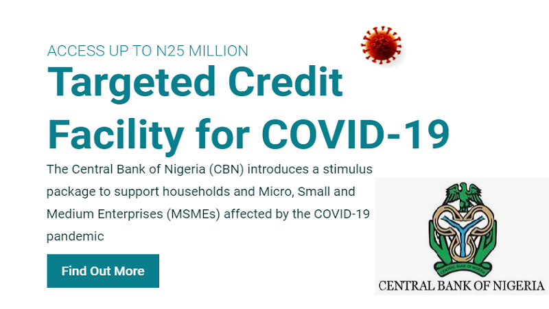 CBN Opens Covid-19 New Round of N25 million stimulus package [Apply]