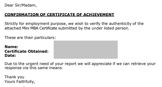 Use Your Official Name for Tekedia Institute Certificates