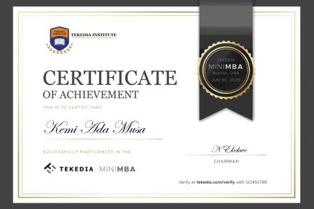Tekedia Institute Redesigns Its Certificates With Auto-Verification and Other Features