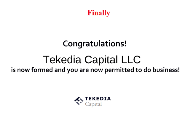 Tekedia Capital Launches April 12, 2021