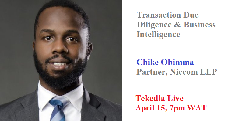 Tekedia Live Tomorrow – Transaction Due Diligence and Business Intelligence