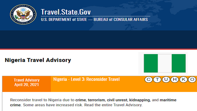 United States Pauses Parts of Nigeria With Severe Travel  Advisory