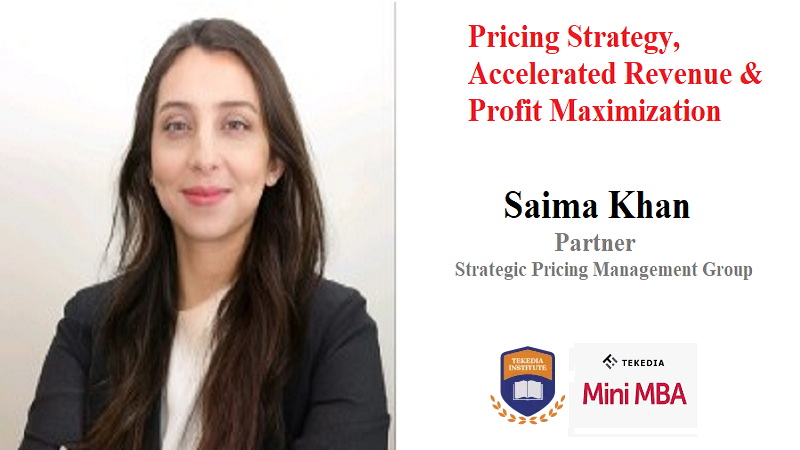 A Pricing Expert And Partner In Toronto-Based SPMG Joins Tekedia Mini-MBA