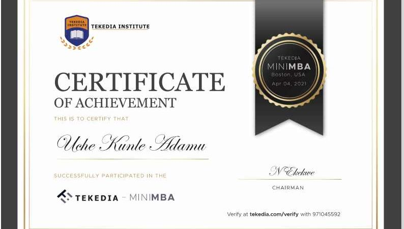 Congrats Tekedia Mini-MBA Edition 4 Members, Certificates Are Now Available