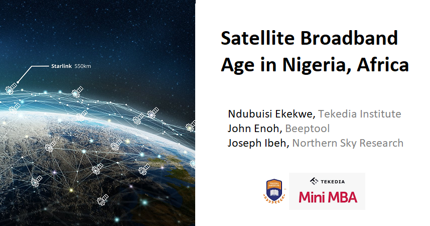 Three Faculty for Tekedia Mini-MBA New Course – Satellite Broadband Age in Nigeria, Africa