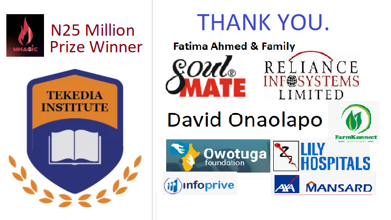 As Tekedia Receives Velocity Mhagic N25 Million Prize, We Thank These Institutions and People