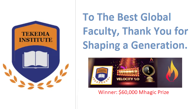 As Tekedia Receives Mhagic $60,000 Prize, Thank You Faculty for Transforming Careers and Firms