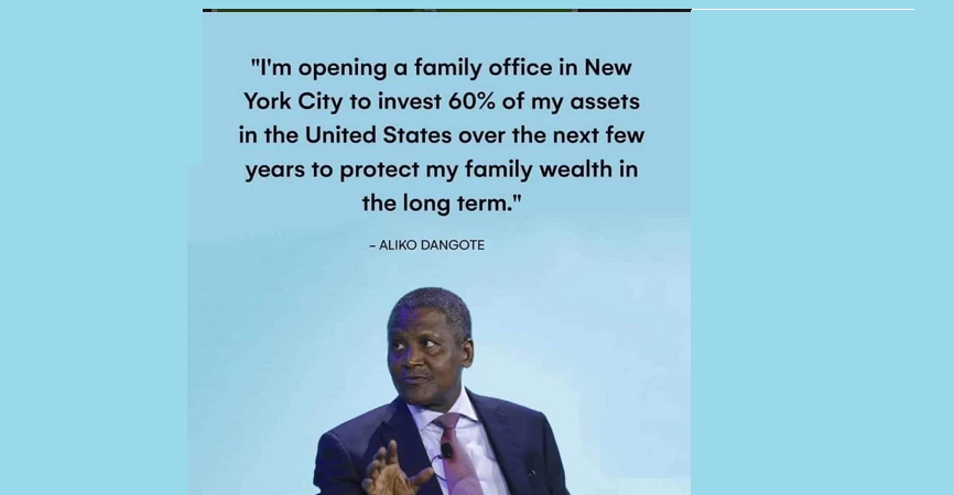 Any Update On Dangote's New York Diversification Playbook