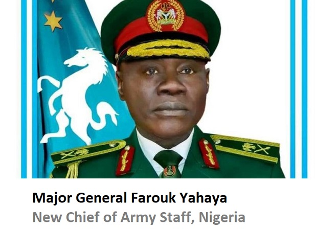 Buhari appoints Major General Farouk Yahaya as the New Chief of Army Staff