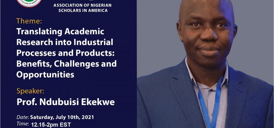 Ndubuisi Ekekwe To Deliver Keynote At Association of Nigerian Scholars in America (ANSA) Event