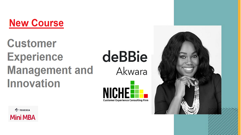 New Course at Tekedia Mini-MBA: Customer Experience Management and Innovation by deBBie akwara