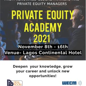 Private Equity Academy 2021 – Attend in Lagos Continental Hotel, Nov 2021