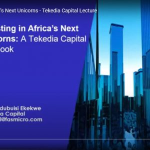 """""""Investing in Africa's Next Unicorns"""" – A Tekedia Capital Public Lecture [Video]"""