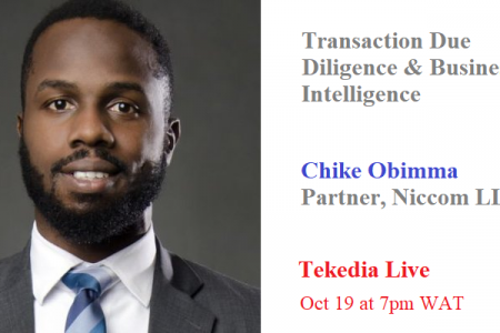 Transaction Due Diligence and Business Intelligence At Tekedia Live